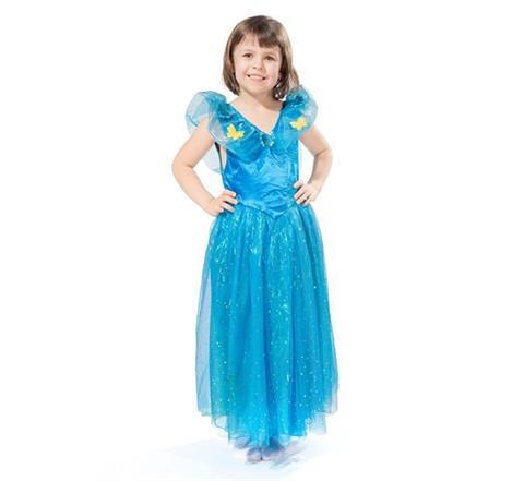 61da3e0ab0d747 Strój KSIĘŻNICZKI niebieski dla dziewczynki, dla dzieci, rozmiar L ...