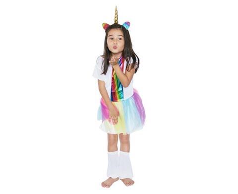 55a0237edc9646 Strój dla dzieci TĘCZOWY JEDNOROŻEC (sukienka, opaska), rozm. M (5-6 ...