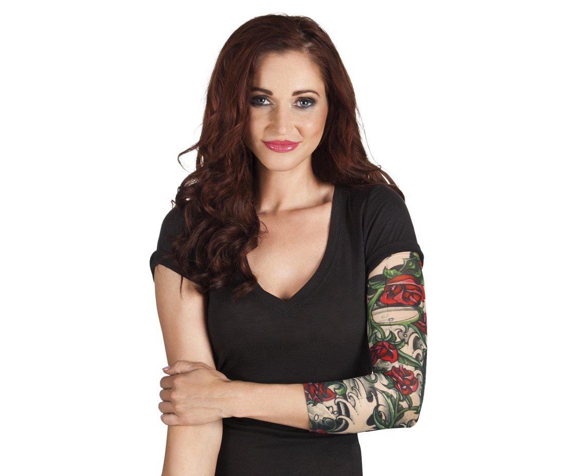 Tatuaż Rękaw Róże Tatuaże Zmywalne I Tymczasowe Makijaż I Charakteryzacja