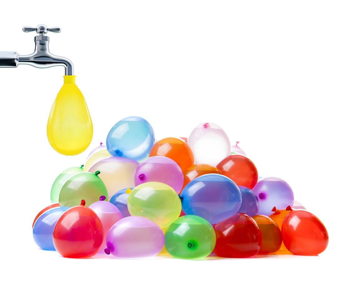 Balony wodne - HIT!- BALONY BOMBY NA WODĘ! Idealne na lato. BESTSELLER naszego sklepu!, Balony bomby wodne - 2. Balony gumowe (lateksowe)