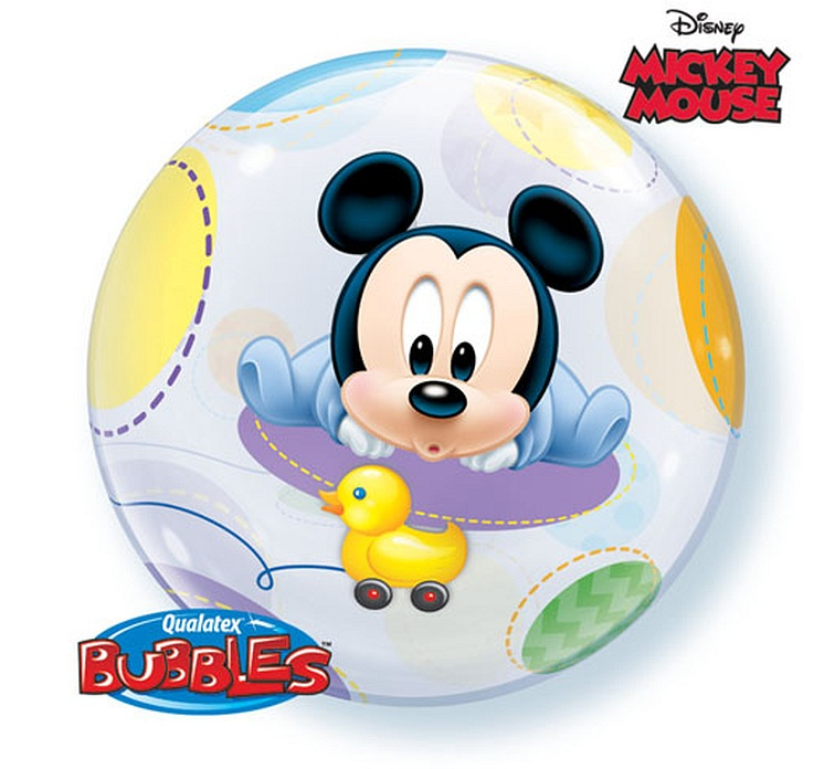 Balon foliowy 22 cali QL Bubble, BABY MICKEY