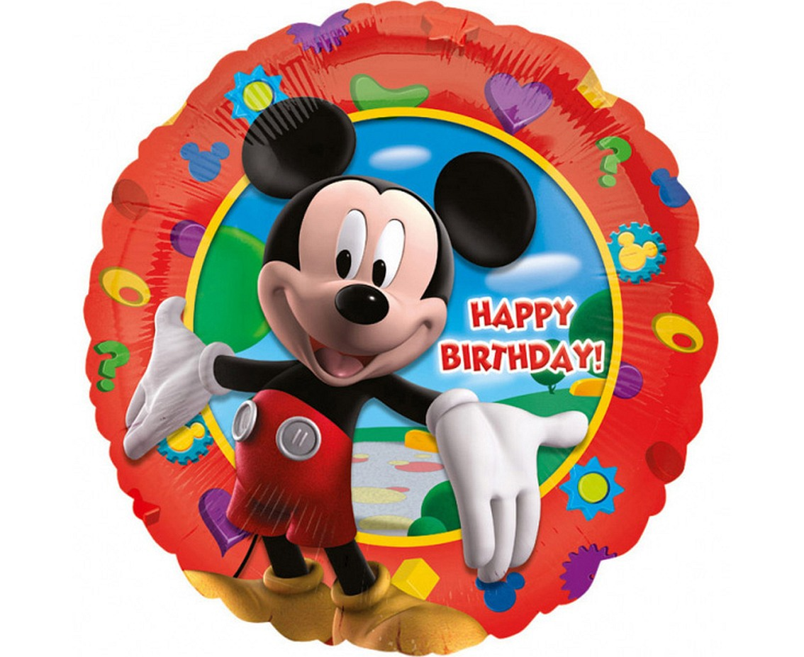 Balon foliowy 18 cali, MICKEY's Happy Birthday