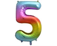 46c9eb55b9fd44 Niebieski balon z nadrukiem na 5 urodziny dla chłopca, na hel ...